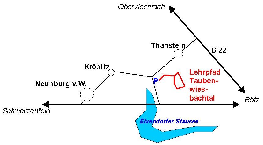 Anfahrt Taubenwiesbachtal